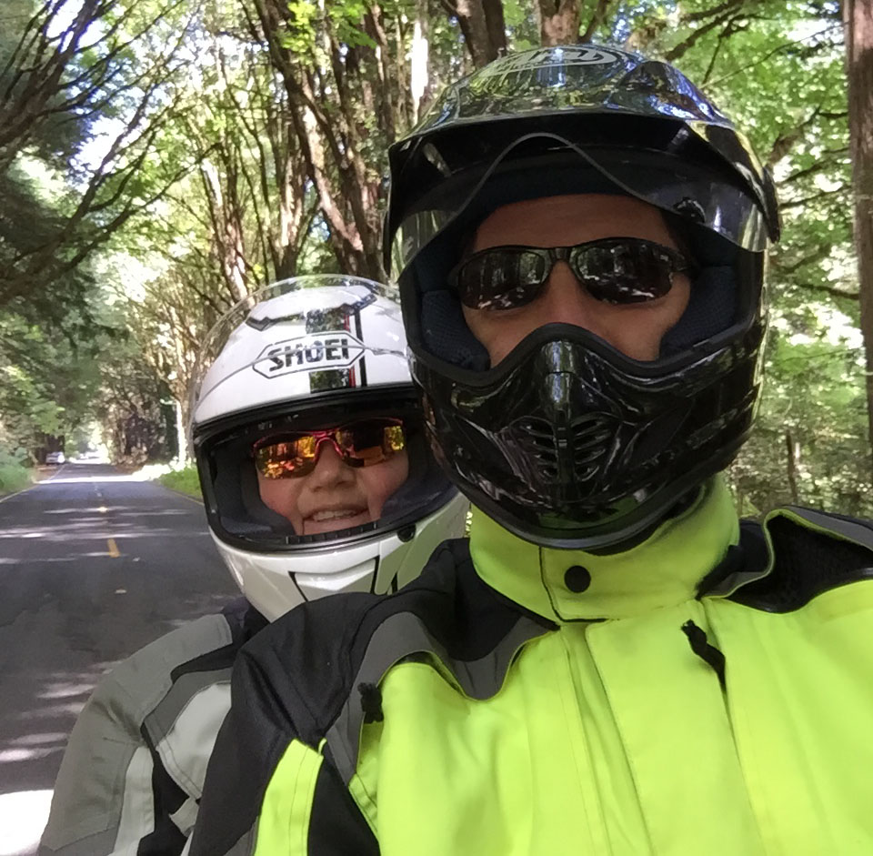 My First Big Motorcycle Trip - Avenue of the Giants