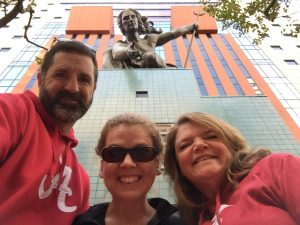 Eric, Rachel, & Justine - Portlandia Statue